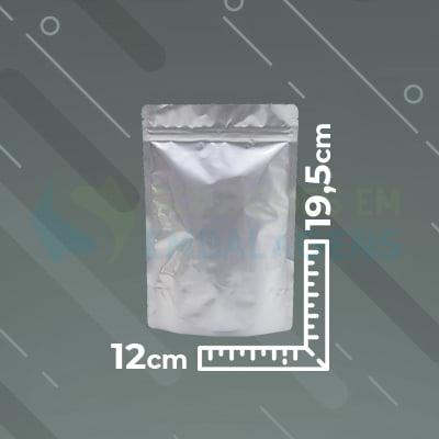 Saco Metalizado Zip Lock 12x19,5 Stand Up Pouch