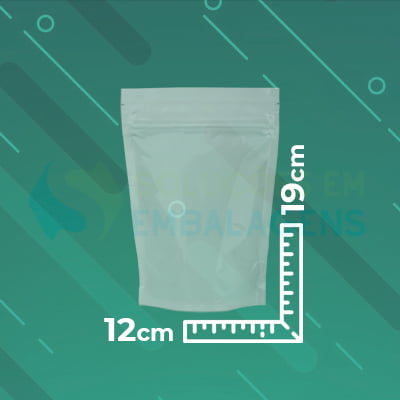 Saco Stand Up Transparente 12x19 Com Zip Lock