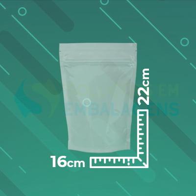 Saco Stand Up Transparente 16x22 Zip Lock