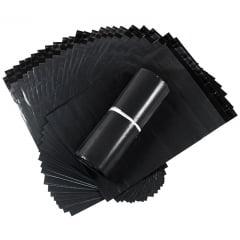 Envelope Plástico Correio Preto 26 cm x 36 cm