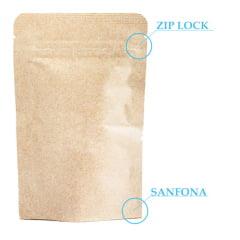 Saco Stand Up Kraft 10x14,5 Com Zip Lock