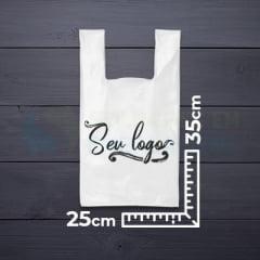 Sacolas Personalizadas Alça Camiseta 25x35