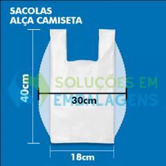 Sacolas Personalizadas Alça Camiseta 30x40