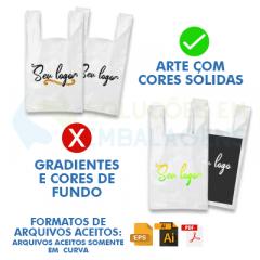 Sacolas Personalizadas Alça Camiseta 35x45