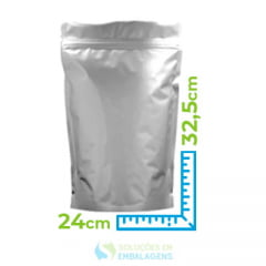 Saco Metalizado Zip Lock  24x32,5 Stand Up Pouch