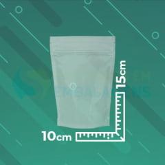 Saco Stand Up Transparente 10x15 com Zip Lock