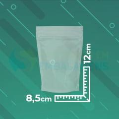 SACO STAND UP TRANSPARENTE 8,5 CM X 12 CM X 2,5 CM COM ZIP LOCK
