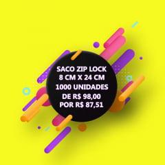 SACO ZIP LOCK TRANSPARENTE 8 CM X 24 CM